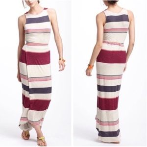 Anthropologie Dolan T-Shirt Striped Maxi Dress